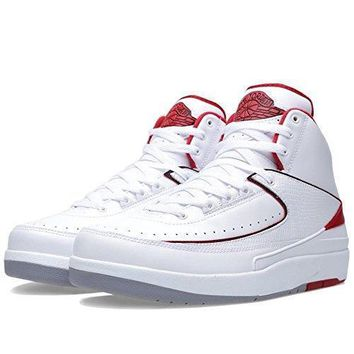 "Nike Mens Air Jordan 2 Retro ""OG Colorway"" Leather Basketball Shoes nike air retro"