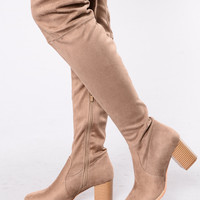 Suede Sensation Boot - Taupe