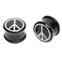 Acrylic Peace Sign Plug 2 Pack