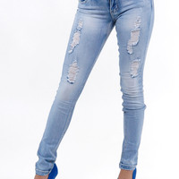 Shop Trendy Juniors Distressed Skinny Jeans in NEW Arrivals