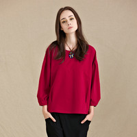Drop Bell Sleeve Loose Fitting Top