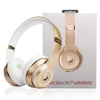 Fashion Beats solo3 wireless Headphone wireless bluetooth headset Gold
