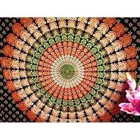 Multi color feather hippie wall hanging dorm decorative