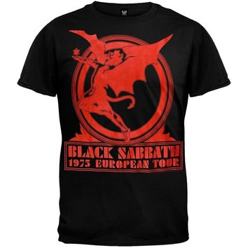 Black Sabbath - Europe 75 Officially Licensed Adult T-Shirt New S,M,L,XL,2XL