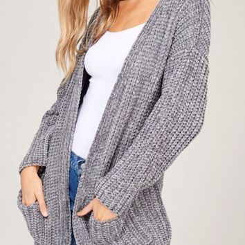 Silver Lining Chenille Cardigan Sweater