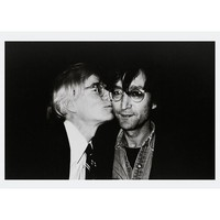 ANDY WARHOL KISSING JOHN LENNON POSTCARD - STATIONERY