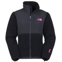 The North Face Womens Pink Ribbon Denali Jacket TNF Black Size Medium