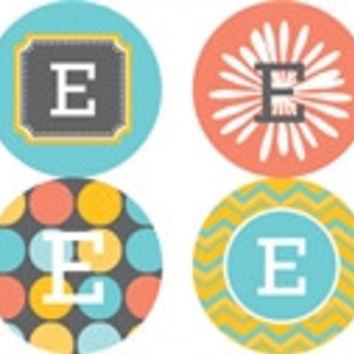 Multi Monogram Personalized Stickers