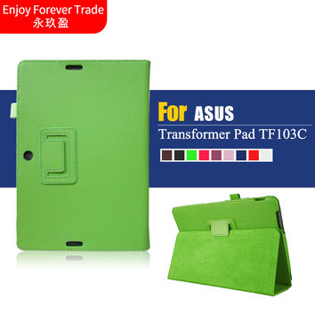 "PU Leather Stand Case skin Cover For Asus Transformer Pad TF103C TF0310C TF103CG K010 10.1"" Tablet case"