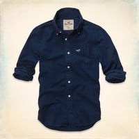 "Mens/Dudes Hollister Classic button down shirtt: ""First Point Shirt"""