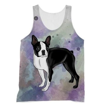 Watercolor Boston Terrier Designs by Amitie Sublimation Vest