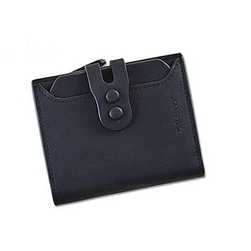 RFID Wallet for Women PU Matte Leather Blocking Tech Wallet Card Holder Organizer Girls Coin Purse with Snap Closure