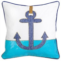Jonathan Adler Throw Pillow Cote d'Azur Anchor