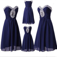 Chiffon Beading Homecoming Dress