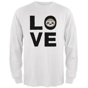 LMFCY8 Sloth Love Series Mens Long Sleeve T Shirt