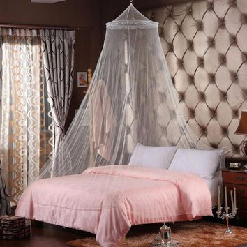 New Excellent Elegant Round Lace Mosquito Nets Bed Canopy Netting Curtain Dome Mosquito Net House Bedding Decor Home Textile