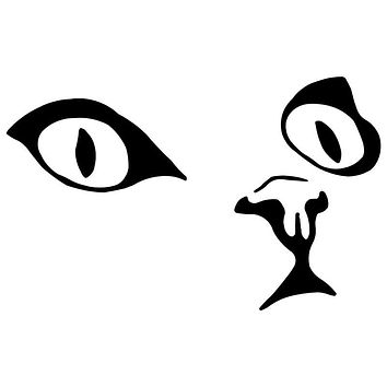 15*9.2CM Cat Eyes Face Cartoon Car Sticker Decal Reflective Car Styling Motorcycle Sticker