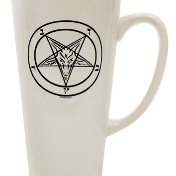 Sigil of Baphomet 16 Ounce Conical Latte Coffee Mug by TooLoud