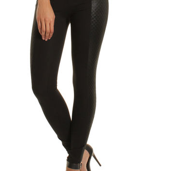 Quilted Panel Zip Leggings