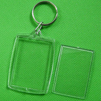 10 pcs Transparent Blank Insert Photo Picture Frame Key Ring Chain KeyChain AU3C