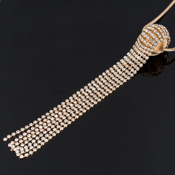 Fashion Jewelry 2015 New Design European Pop hollow ball long necklace sweater chain necklaces & pendants Fro Woman N238