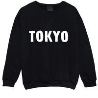 TOKYO SWEATER JUMPER womens ladies fun tumblr hipster swag fashion grunge kale punk retro vtg top beyonce city cute japan girls pink goth