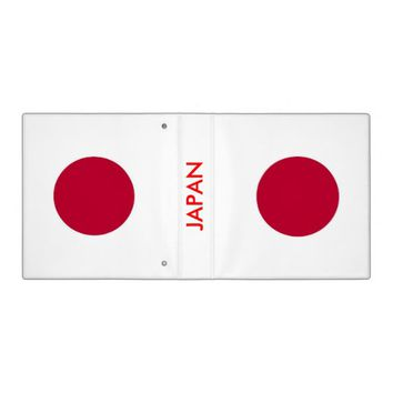 Binder with Flag of Japan