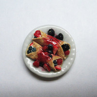Miniature Dollhouse Berry Crepes at 1:12 Scale