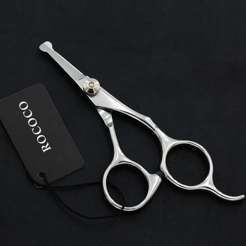 4.5inch Mini Safety Rounded Tip Professinal Pet Straight Micro Serrated Smaller Scissor Dog Grooming Hair Cut Clip Shear