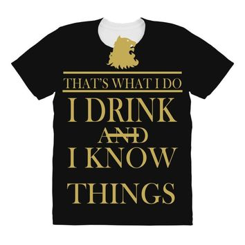 i drink All Over Women's T-shirt