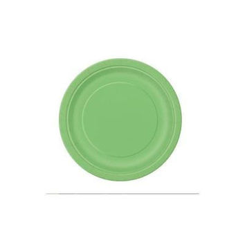 """Unique 9In"""" Lime Green Dinner Plates, 55Pk"""