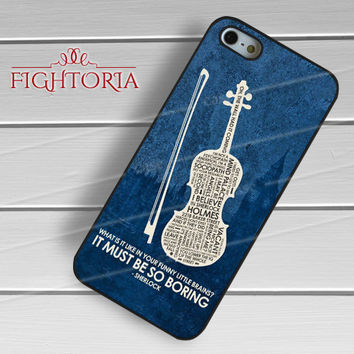 sherlock quotes in violin-yah for iPhone 6S case, iPhone 5s case, iPhone 6 case, iPhone 4S, Samsung S6 Edge
