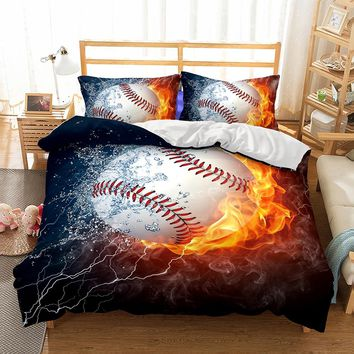 3D Bedding Set Design Duvet Cover Sets King Queen Twin Size ping ball Game BOY Gife