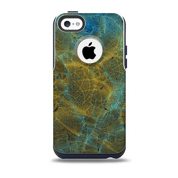 Green, Blue and Brown Water Texture Skin for the iPhone 5c OtterBox Commuter Case
