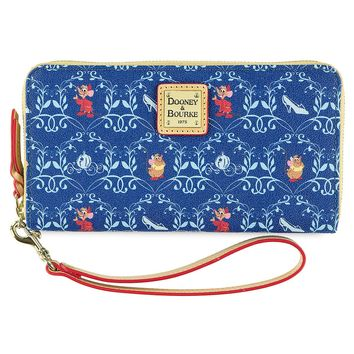 Disney Dooney & Bourke Cinderella Slipper Coach Jaq Gus Wallet New with Tags
