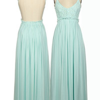 Dreamt of You Maxi Dress - Mint