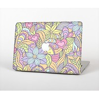 The Vibrant Color Floral Pattern Skin Set for the Apple MacBook Air 13""