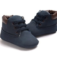 Lace Ups-Midnight Blue Booties