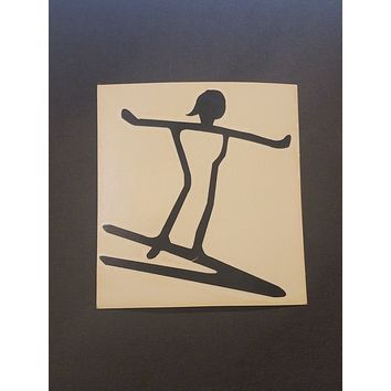Petroglyph Surfer Sticker