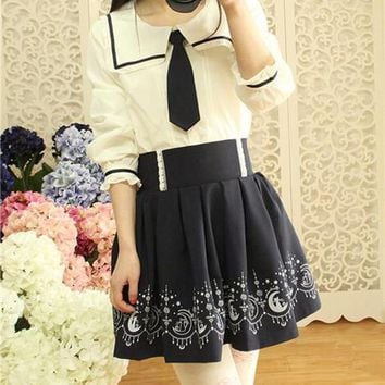 2016 Summer A line Skirts Anime sailor moon girls Kawaii Skirts Woman Clothing one piece Vestidos gothic faldas mujer Cute
