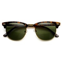 Classic Retro Fashion Half Frame Horned Rim Horn Rimmed Sunglasses