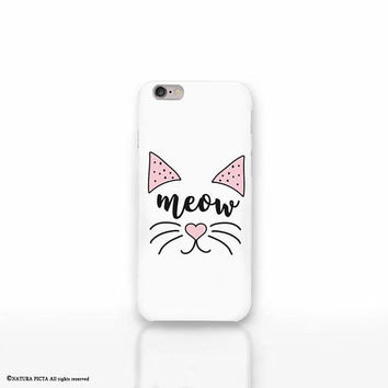 Cat meow iPhone X case - iPhone 8/8 Plus case - iPhone 7/7 Plus case - iPhone 6/6 Plus case-iPhone 5/5S case-Galaxy case-Huawei case-NP3D204