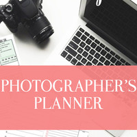 "A Photographer's Planner- 22 Sheets - Comes in 4 Sizes - A4 daily planner, A5 daily planner, 8.5""x11"", Personal Day Planner"