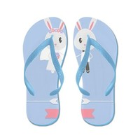 bunny wedding Flip Flops