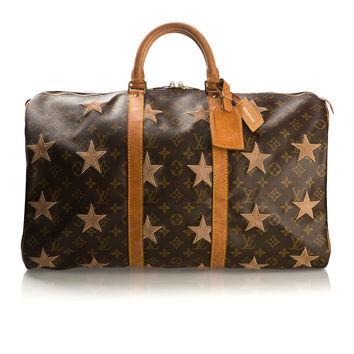 MEDIUM RARE KEEPALL 50 CUSTOMIZED VINTAGE BAG
