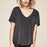 LA Hearts Stone Wash Cupro V-Neck T-Shirt at PacSun.com