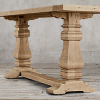 Salvaged Wood Trestle Console