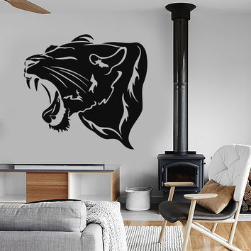 Vinyl Wall Decal Panther Animal Tiger Predator Tribal Stickers Unique Gift (ig220)