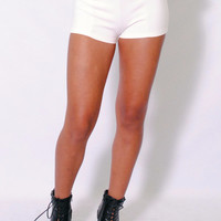 (amh) High waist fitted white shorts