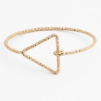 Junior Women's BP. Triangle Open Wire Cuff Bracelet